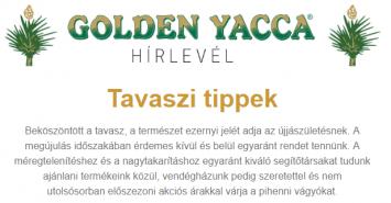 Golden Yacca Hírlevél